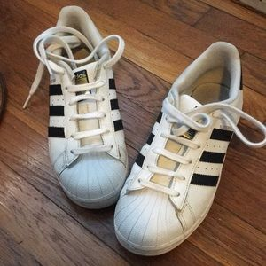 Adidas Superstar sneakers size 5